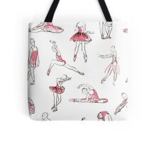 ballerina standing in a pose seamless pattern Tote Bag