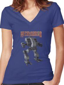 mechwarrior  Women's Fitted V-Neck T-Shirt