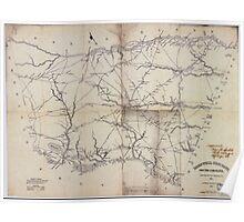 Civil War Maps 0091 Barnwell District South Carolina Poster