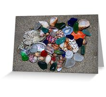 11 Sea glass and sea shells collection Greeting Card