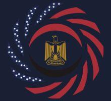 Egyptian American Multinational Patriot Flag Series Kids Tee