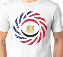 Egyptian American Multinational Patriot Flag Series Unisex T-Shirt
