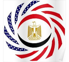 Egyptian American Multinational Patriot Flag Series Poster