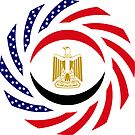 Egyptian American Multinational Patriot Flag Series by Carbon-Fibre Media