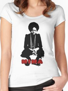 Nina Simone Sit Women's Fitted Scoop T-Shirt