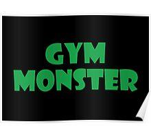 Gym Monster (Green) Poster