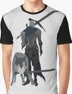 Knight Artorias and the grey wolf Sif Graphic T-Shirt