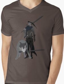 Knight Artorias and the grey wolf Sif Mens V-Neck T-Shirt
