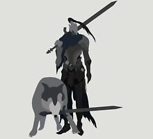Knight Artorias and the grey wolf Sif Unisex T-Shirt