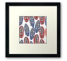 Botanic pattern with leaves and plants Framed Print