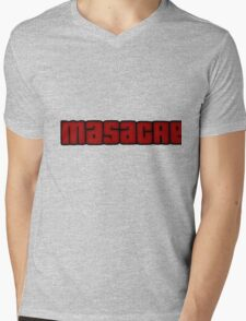 Masacre mode Mens V-Neck T-Shirt