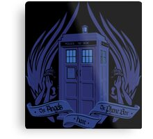 Doctor Who - Angels have the Phone Box Metal Print