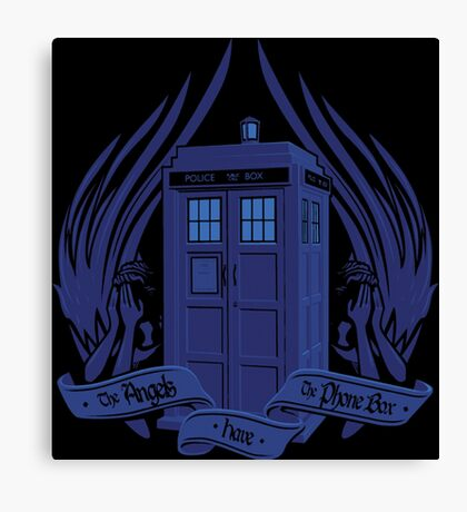 Doctor Who - Angels have the Phone Box Canvas Print