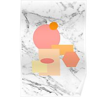 Marble Geometric Pattern Poster