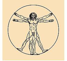 Vitruvian man vector drawing Photographic Print