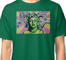 Green Marilyn with Horns Classic T-Shirt