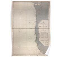 Civil War Maps 1232 Pacific Coast from San Francisco Bay to the Strait of Juan de Fuca 02 Poster
