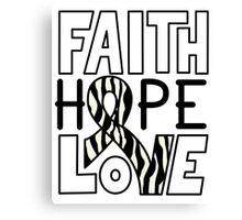Faith Hope Love - Carcinold Cancer Awareness Canvas Print