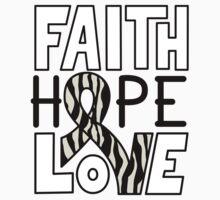 Faith Hope Love - Carcinold Cancer Awareness Kids Tee