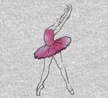 ballerina figure, watercolor illustration Kids Tee