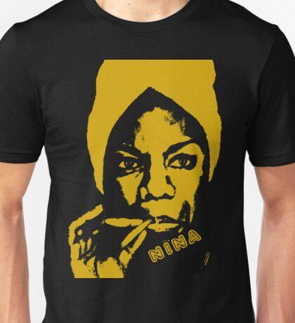 Nina Simone Yellow Sigar Unisex T-Shirt