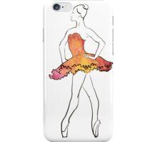 ballerina figure, watercolor illustration iPhone Case/Skin