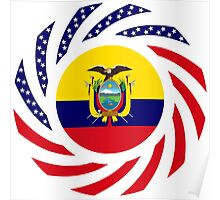 Ecuadorian American Multinational Patriot Flag Series Poster