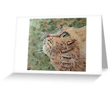 Goldy with Green Background Greeting Card
