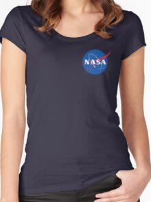 nasa sweatshirt blue Women's Fitted Scoop T-Shirt