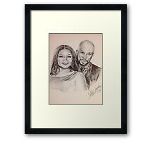 Queen Latifah & Common Framed Print