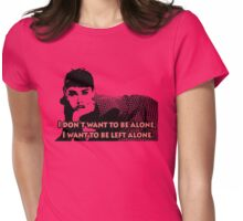 Audrey Hepburn Left Alone Womens Fitted T-Shirt