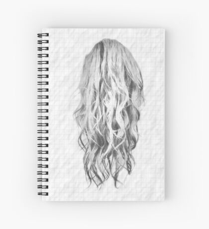Drawn Hair On Squared Paper Spiral Notebook