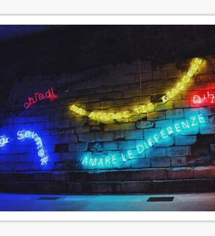 Love the Differences Neon Artwork Sticker
