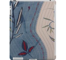 Willow and Clematis Leaves. Print of embroidered textile. iPad Case/Skin