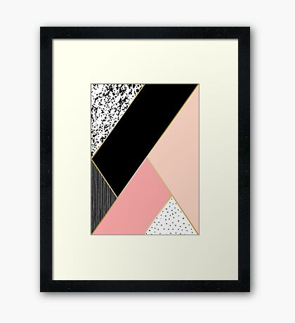Abstract Geometric Composition Framed Print
