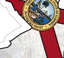 Florida flag New Jersey outline Sticker