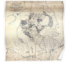 Civil War Maps 0149 Battle of the Antietam fought September 16 17 1862 Poster