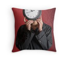 Waisted Time Throw Pillow