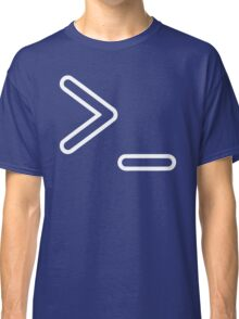 Shell Prompt >_ Indicated with greater than and underscore signs Classic T-Shirt