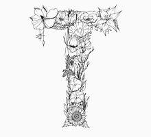 Floral Letter T Unisex T-Shirt