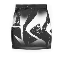 Alyssa Decayed Style Graffiti Tag Mini Skirt