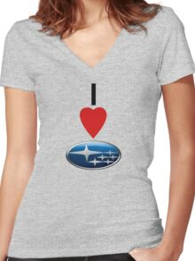 I <3 SUBARU Women's Fitted V-Neck T-Shirt