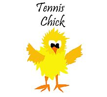 Cool Funny Tennis Chick Cartoon Photographic Print