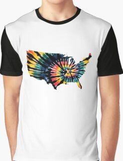 USA Tie-Dye  Graphic T-Shirt