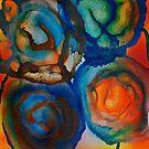 Fleurs abstraites dans le soleil by George Hunter