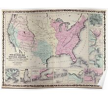 Civil War Maps 0534 Johnson's new illustrated steel plate family atlas with descriptions geographical statistical and historical Poster