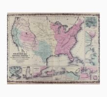 Civil War Maps 0534 Johnson's new illustrated steel plate family atlas with descriptions geographical statistical and historical Kids Tee