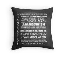Grand Rapids Famous Landmarks Throw Pillow