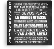 Grand Rapids Famous Landmarks Canvas Print