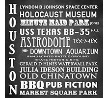 Houston Famous Landmarks Photographic Print